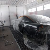 The car painting process is labor and time intensive. They do it the right way at Barbosa's Kustom Kolor in Parkville, MO.