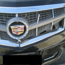 Cadillac XTS before front grill damage auto body by Barbosa's Kustom Kolor, Kansas City, MO